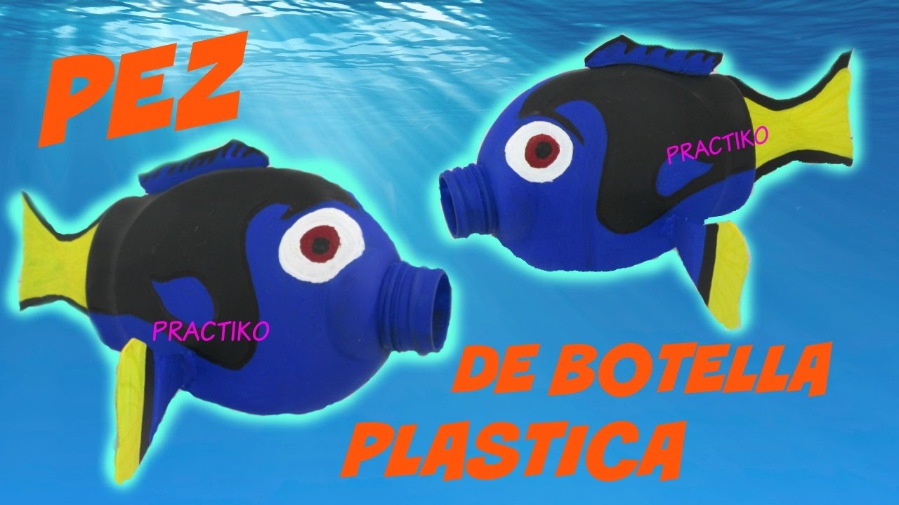 Como hacer un pez con una botella de plastico manualidad for Como construir estanques para peces