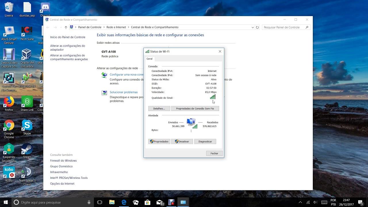 Como Descobrir Senha De Wi Fi Conectada No Computador Windows 10 Youtube