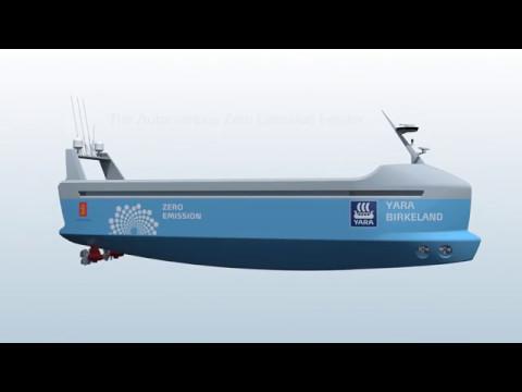 The world's first autonomous & zero emissions ship (short)