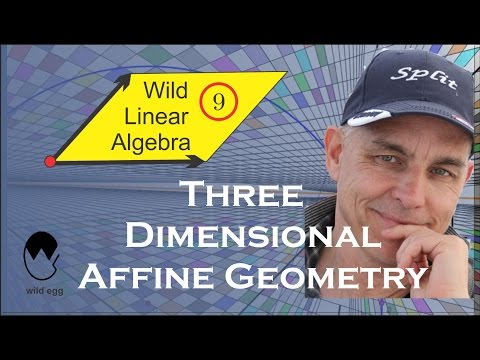 Wild Linear Algebra 9: Three dimensional affine geometry