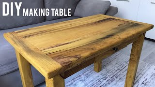 Ahşap masa yapımı / Making a table / Wooden table diy / How to make a wooden table