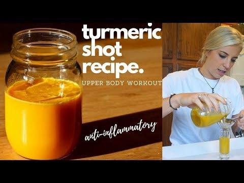 Turmeric Shot Recipe I Upper Body Workout