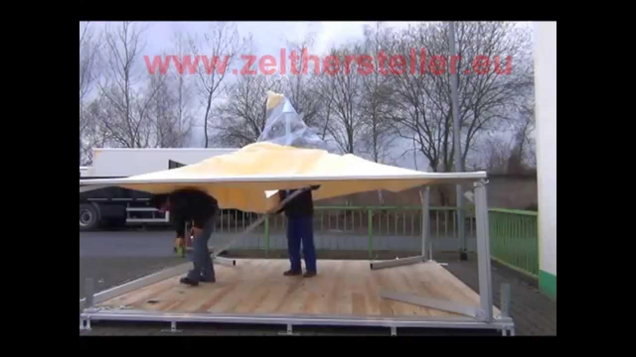 Zelt Pavillon Mit Boden : Aufbau pagode mx m festzelt partyzelt mit boden