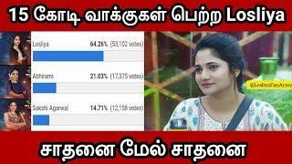 Losliya get 15Cr Vote for this week | Voting Result | Bigg Boss tamil | Season3