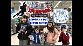 Spider-Man into the Spider-Verse & Mary Poppins Returns Movie Blu-Ray & DVD Hunt! Walmart Toy Hunt!
