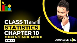 #34, How to find median   Individual series   discrete series   Statistics for economics   Class 11