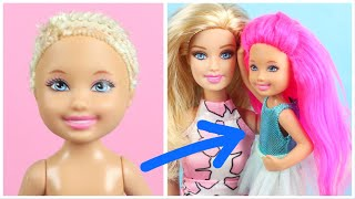 How To Make Chelsea and Barbie Hairstyle Transformation ~ Do It Yourself Doll Hacks ~ Easy DIY Ideas