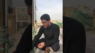 ملا حسين والي اللامي / نعي عند قبر والده