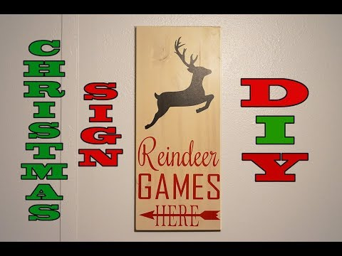 How To Make A DIY Wooden Christmas Sign