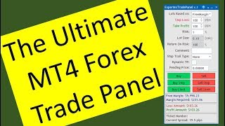The Ultimate MT4 Forex Trade Panel for serious Forex traders. What do you think about it?