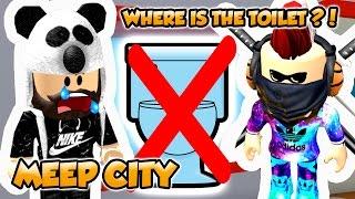 NO TOILET IN ROBLOX MEEP CITY ?!