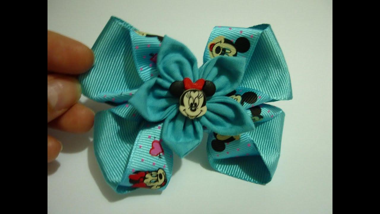 Como elaborar mo os flor elegantes f ciles cinta y tela for Diademas de tela para el cabello