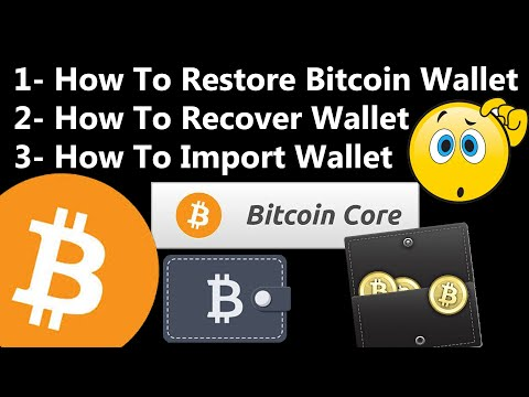 How To Restore Bitcoin Core Wallet   Install Backup A Bitcoin Wallet