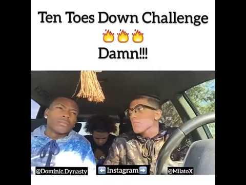 *BEST* Ten toes down challenge (Milato & Dominic)