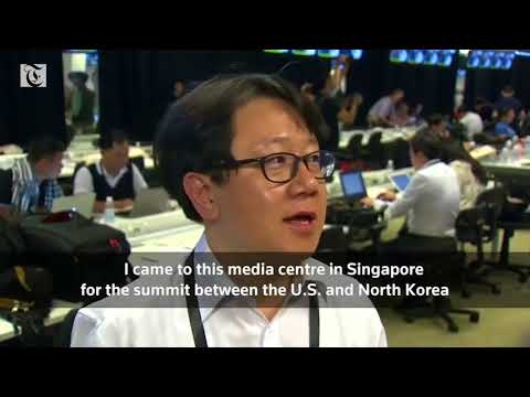 International journalists prepare for Trump Kim summit in Singapore's media center