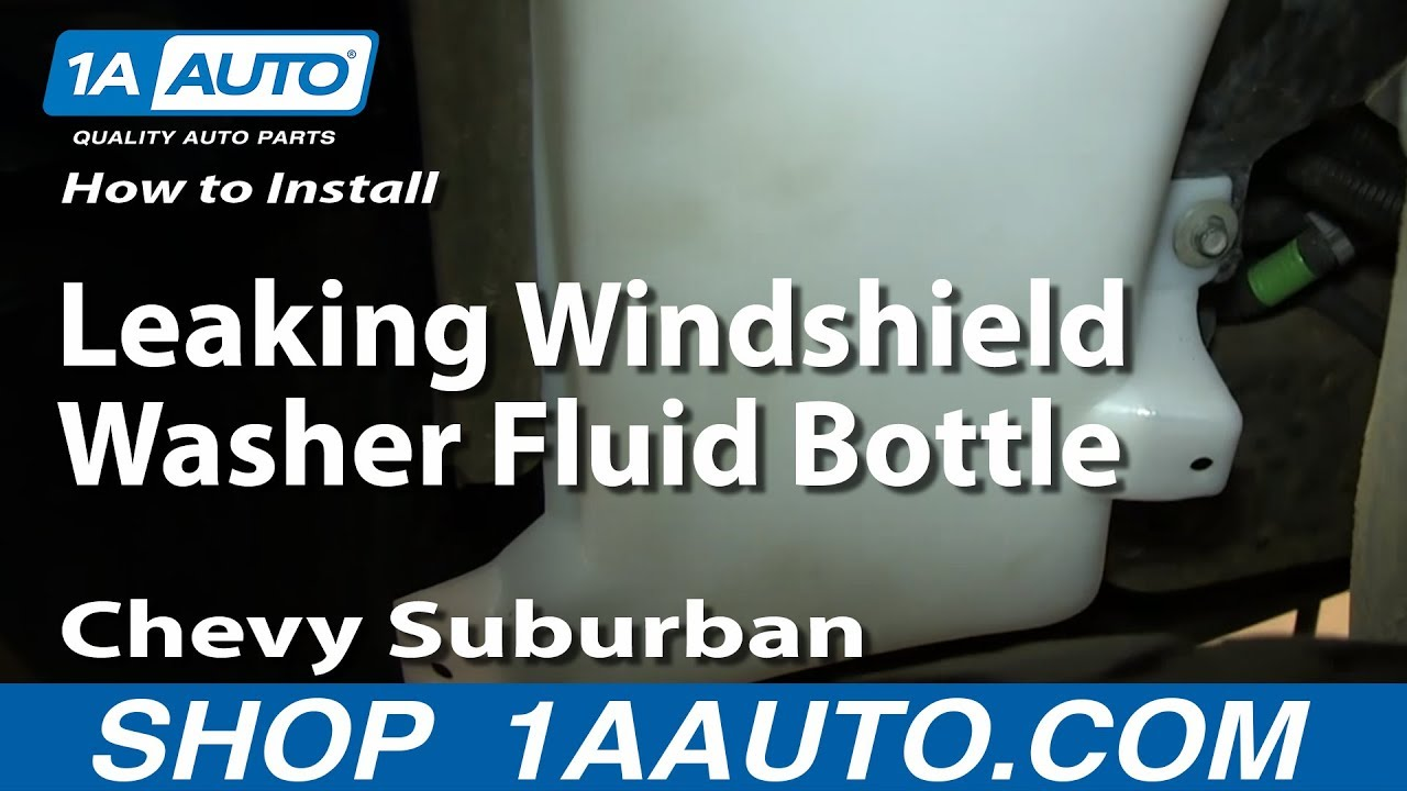 How To Install Replace Leaking Windshield Washer Fluid Bottle 2000 06 Chevy Suburban Tahoe Gmc