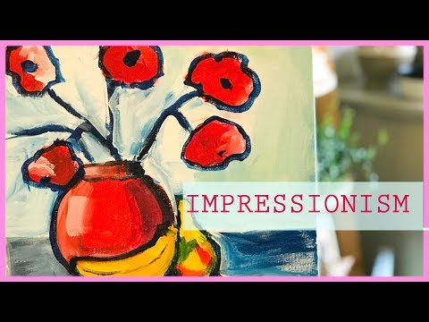 How To Paint Like HENRI MATISSE  (tutorial) By Lily DuVeau