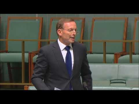 The Elected  Prime Minister - Tony Abbott 4th December 2017