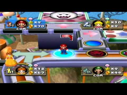 Mario Party 4 - Princess Daisy in Toad's Midway Madness Gameplay
