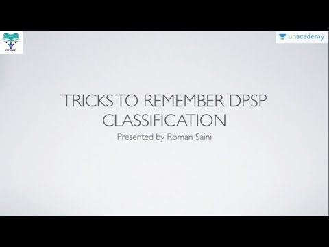Memory Tricks to remember DPSP Directive Principles of State Policy Classification