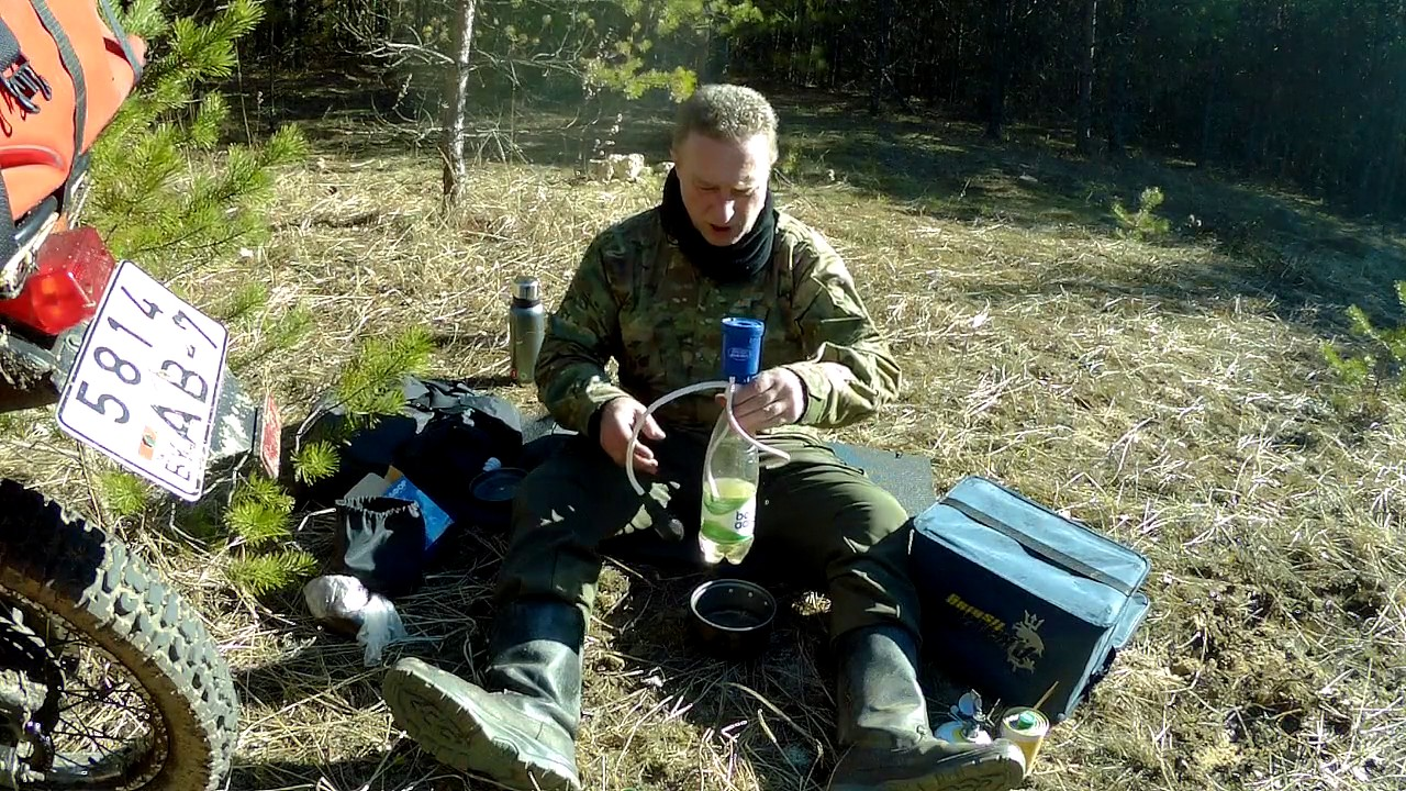 One day with nature: Aquamira Frontier Max water filter (Обзор .