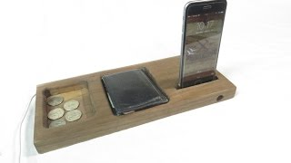 Bedside Phone Dock Valet with Passive Speaker