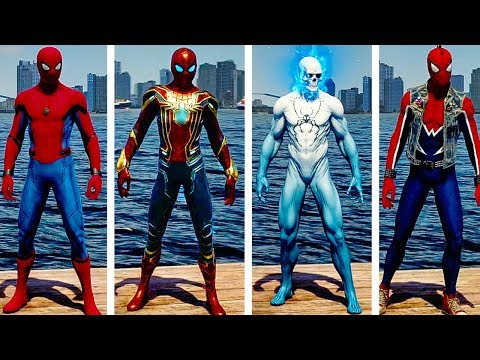 SPIDER MAN PS4 All Suits And Suit Powers...
