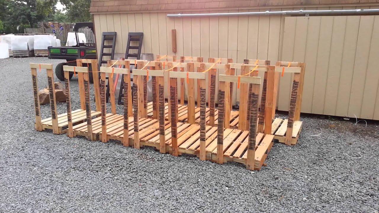 Firewood Racks - YouTube