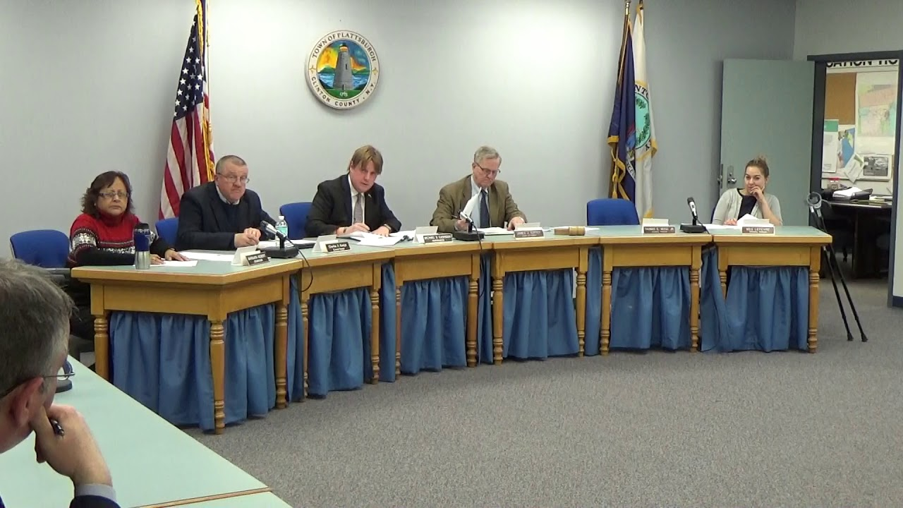 Town of Plattsburgh Meeting  3-15-18