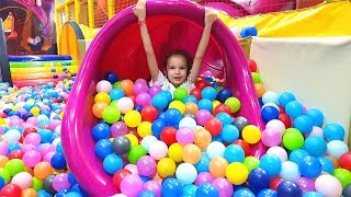 Funny Playtime in Best Indoor Playground With Colorful Balls and Song for Kids