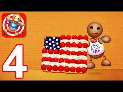 Kick the Buddy - Gameplay Walkthrough Part 4 - All Foods Weapons (iOS)