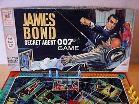 1960s JAMES BOND BOARD GAMES VINTAGE 1965 MILTON BRADLEY AND SPEARS