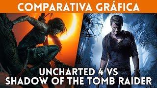 UNCHARTED 4 vs SHADOW OF THE TOMB RAIDER ¿CUÁL tiene los mejores GRAFICOS?