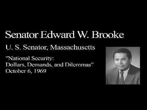 Landon Lecture | Sen. Edward Brooke - audio only