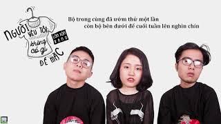 Karaoke | Người Yêu Tôi Không Có Gì Để Mặc | Acoustic Beat | Lyric Video | Piano & Guitar Cover