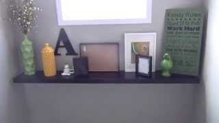 How To Make Your Own Mantel With A Floating Shelf: Ikea Lack Floating Shelf