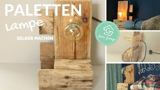 Lampe selber bauen aus Paletten   DIY Lampe   Stehlampe   Upcycling   Palettenmöbel   How to