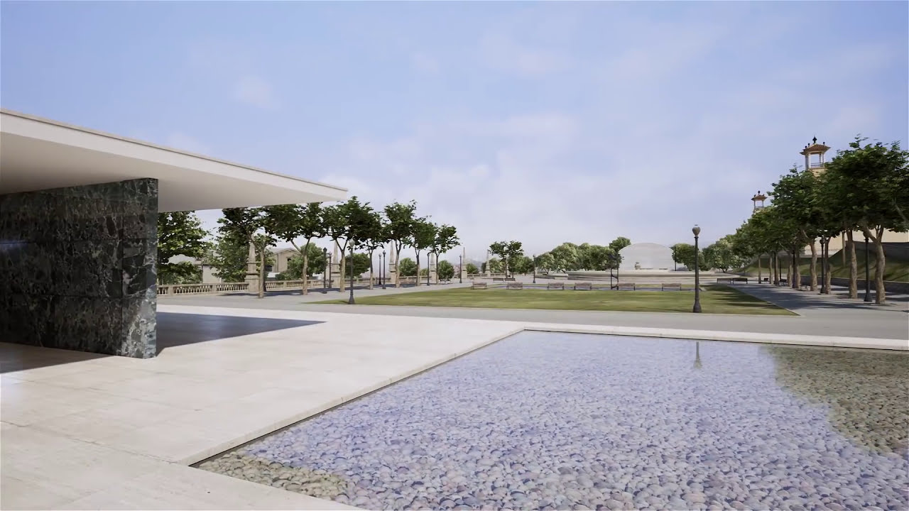 Ue4arch - Barcelona Pavilion Real-Time Archviz  Ue4 Architecture 02:32 HD