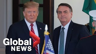 Trump, Bolsonaro discuss Venezuela, trade, and space launches during news conference
