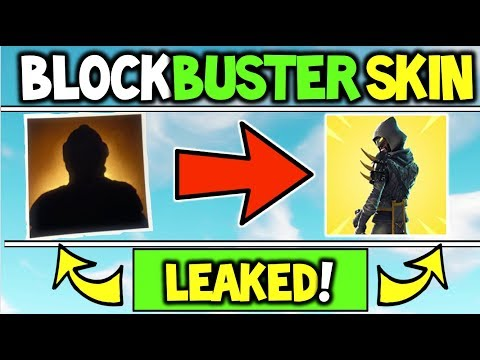 Fortnite Just LEAKED The BLOCKBUSTER SKIN?! - What Is The Fortnite Blockbuster Skin - REVEALED (E3)
