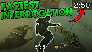 FASTEST Interrogation!! - Rainbow Six Siege Gameplay