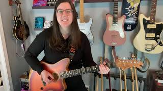 Fender Acoustasonic Jazzmaster Demo and Review with and Without Pedals