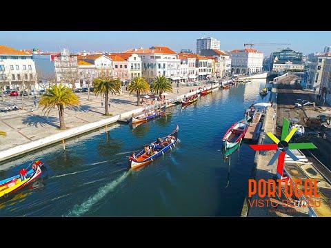 Aveiro the Venice from Portugal aerial view -  Aveiro a Veneza de Portugal vista do céu - 4K UltraHD