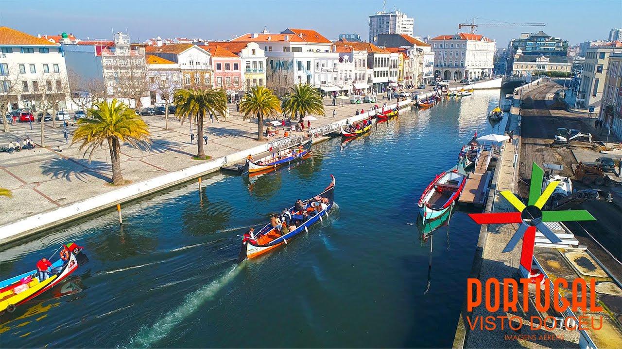 Aveiro the Venice of Portugal aerial view - Aveiro a Veneza de ...