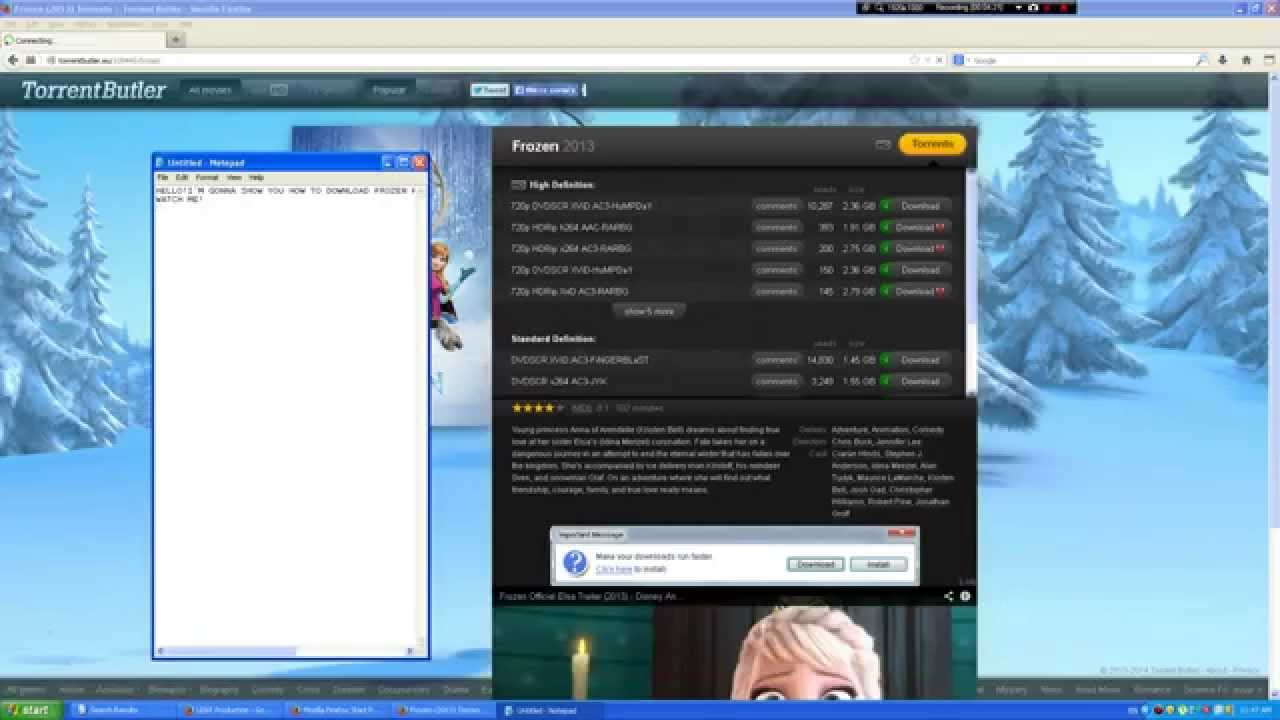 Download How to download Disney Frozen for FREE!