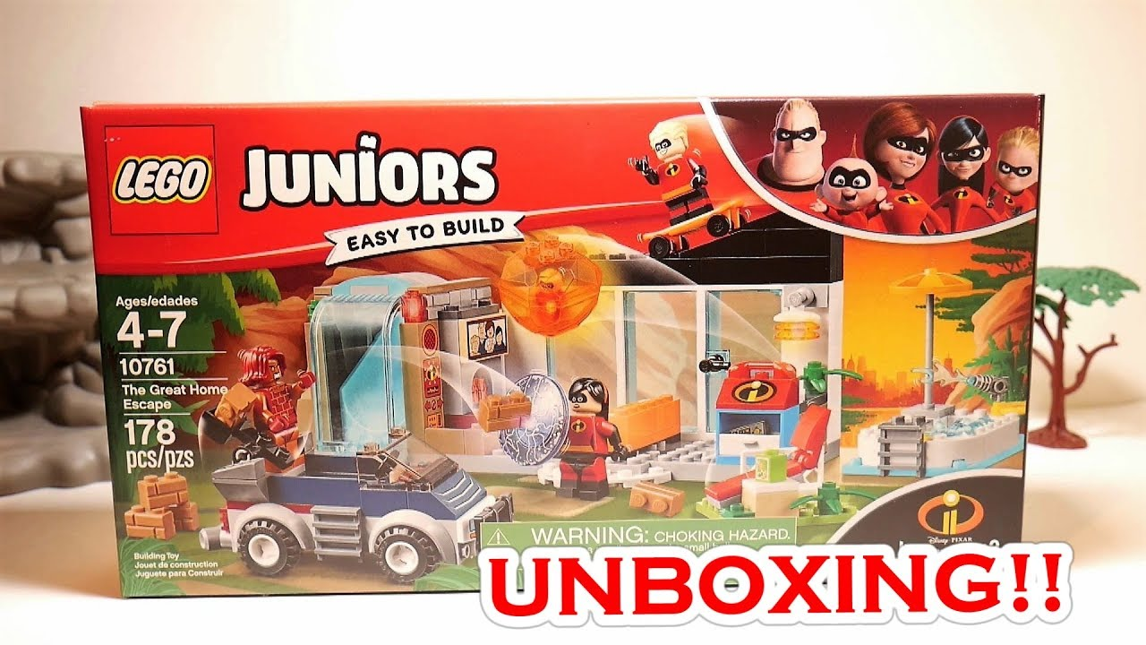 LEGO The Incredibles Juniors The Great Home Escape 178 Pc Set 10761 Age 4-7 New