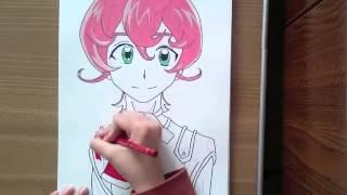 Trey from yugioh zexal (Speed drawing)