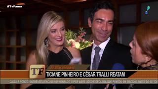 """César Tralli conta como reconquistou Ticiane Pinheiro: """"O amor venceu"""""""