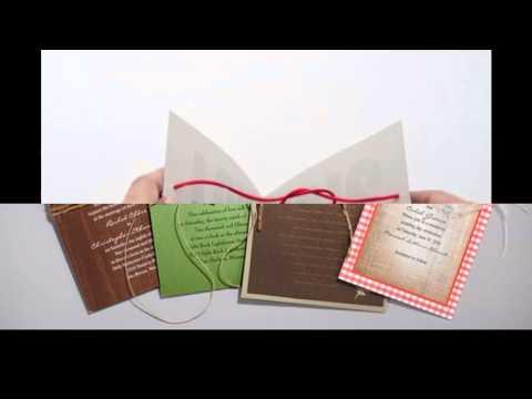 Creative diy wedding invitation ideas