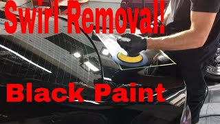 How to remove Swirls, Light Scratches And Other Imperfections From Black Finishes! (ClearCoat)